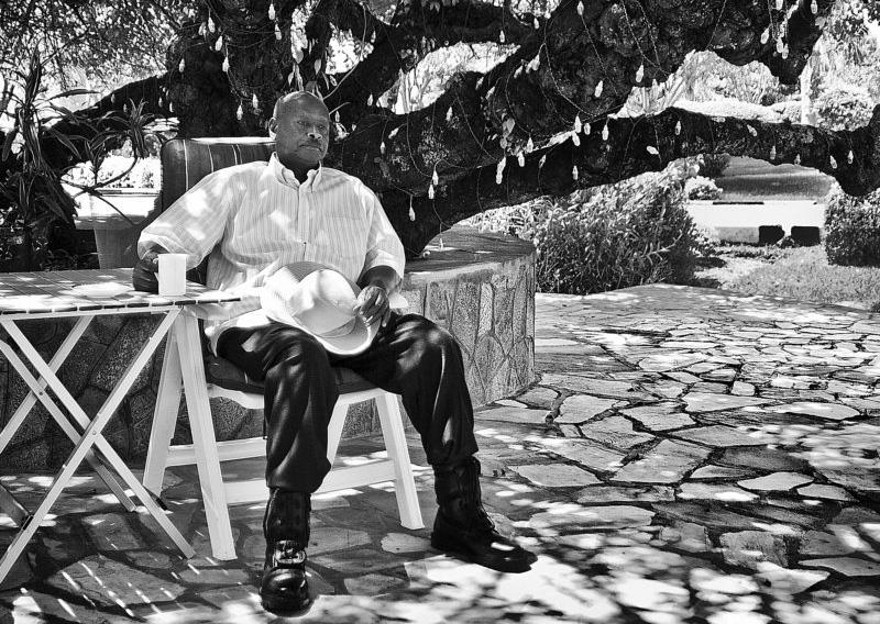 A portrait of Ugandan President Yoweri Museveni at his country home, Rwakitura, Uganda.