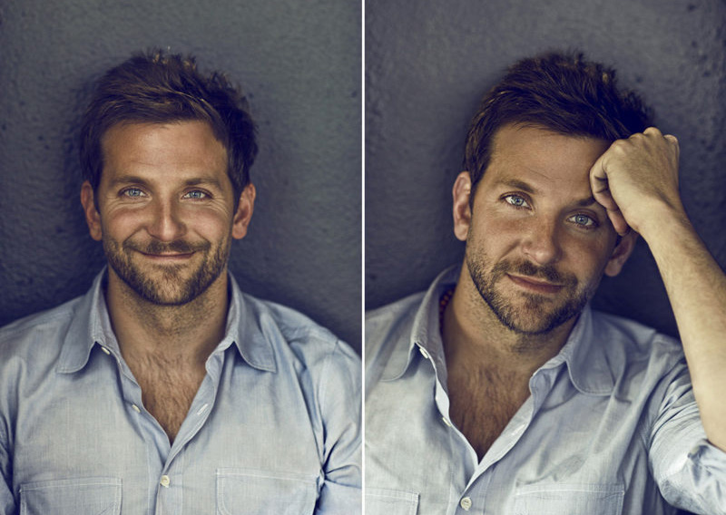 Actor Bradley Cooper shot in R2L in Philadelphia for The New York Times and The Boston Globe.