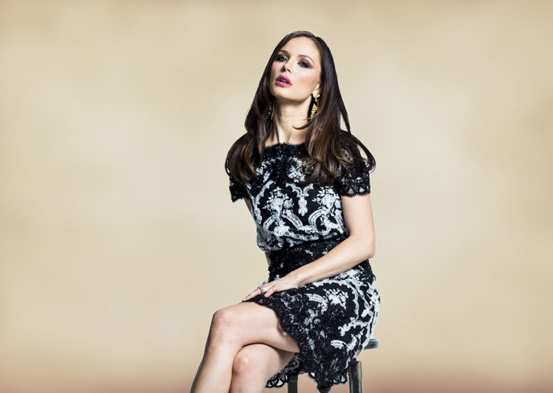 Georgina Chapman, fashion designer, actress and co-founder of the label Marchesa shot for The New York Observer.