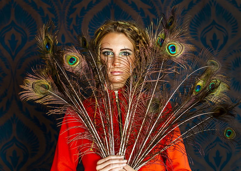 Peacock feathers Photoshoot by Shea Winter