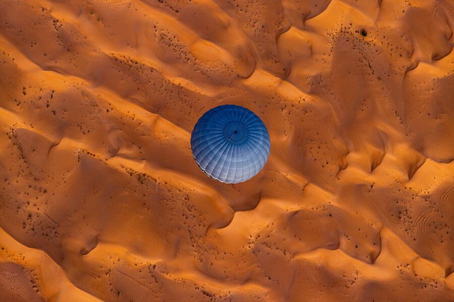 Balloon Over Desert Abstract Fine Art Photography