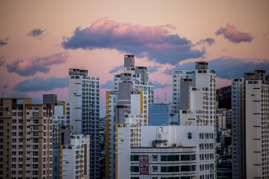 Buildings In South Korea Travel Photography