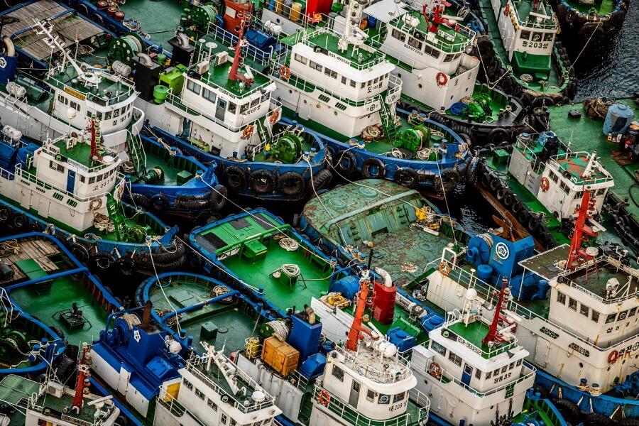 Cargo Ships Abstract Fine Art Photography