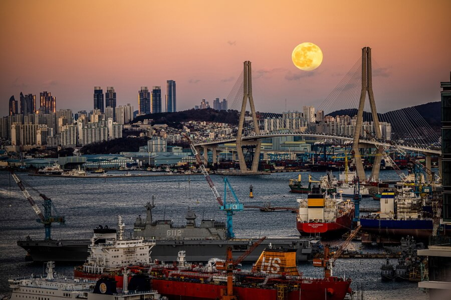Cityscape Of South Korea Travel Photography
