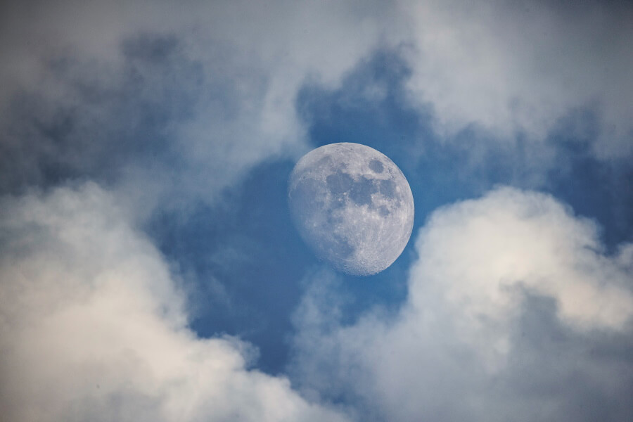 Clouds and Moon Abstract Fine Art Photography