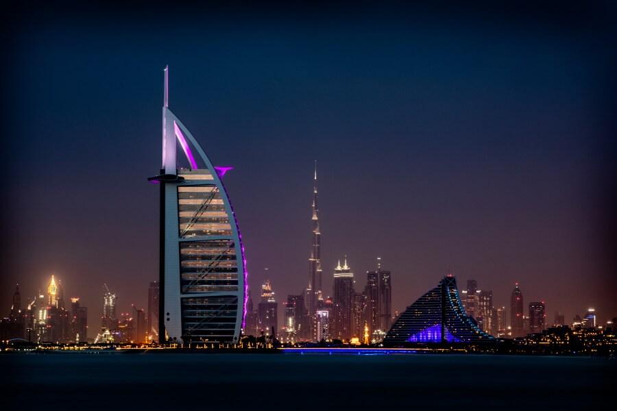 Dubai Skyline Travel Photography