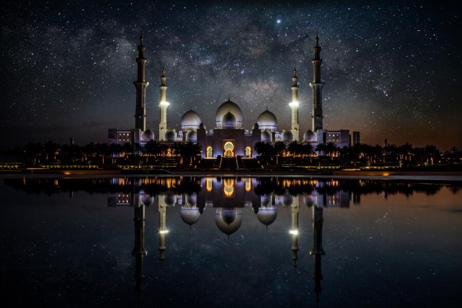Grand Mosque Abu Dhabi Travel Photography