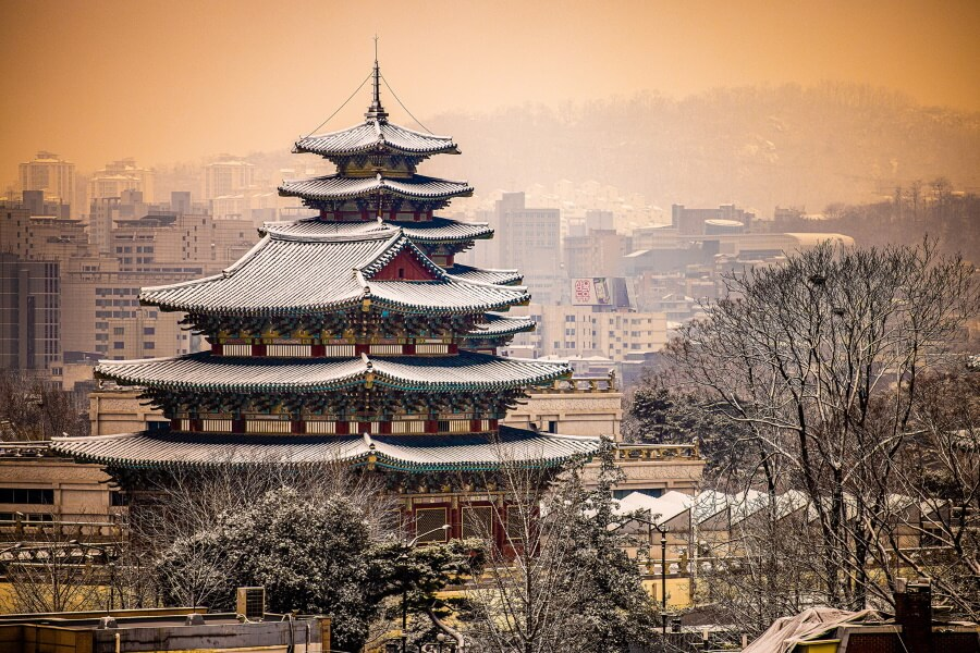 Korean Temple South Korea Travel Photography