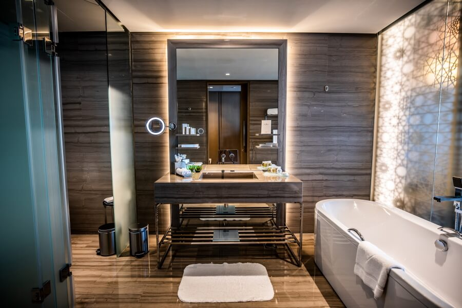Luxurious Bathroom Hotel Photography