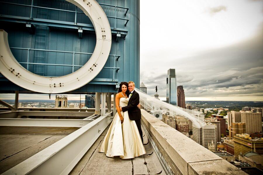 Married Couple Hug Wedding Photography
