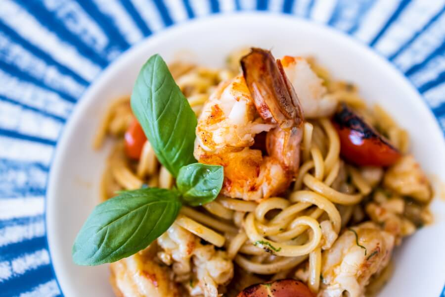 Pasta With Shrimps Food Photography