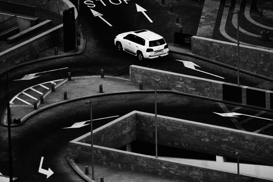 Road And Car Abstract Fine Art Photography