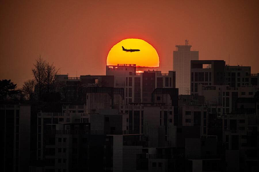 Seoul Sunset South Korea Travel Photography