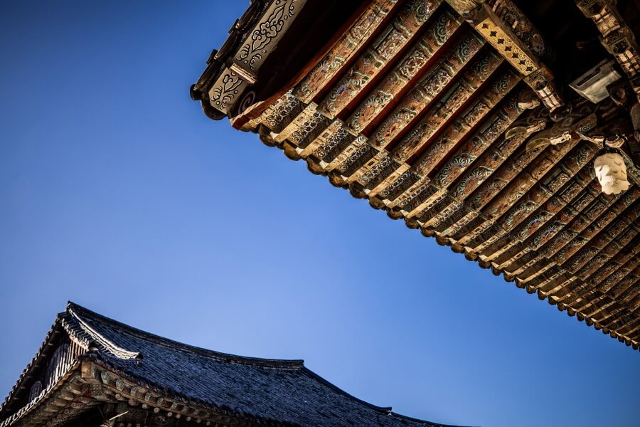 Traditional Building South Korea Travel Photography