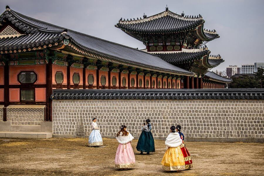 Traditional Buildings South Korea Travel Photography