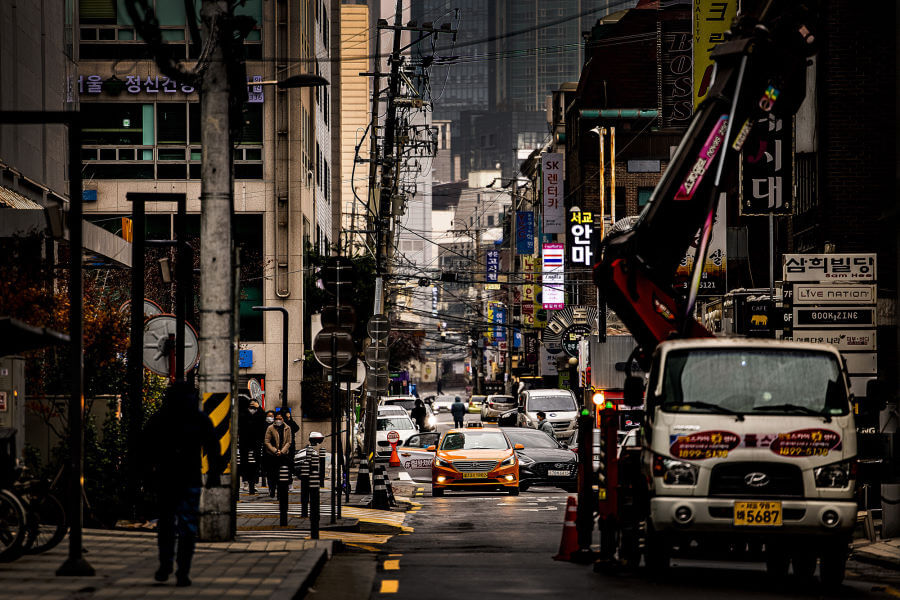 Busy Streets in South Korea