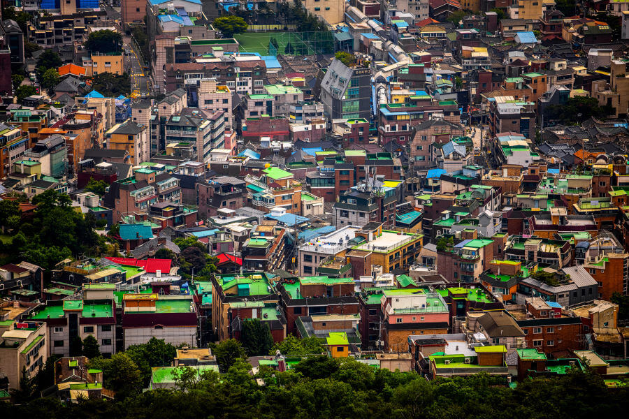 Colored Roofs In Seoul