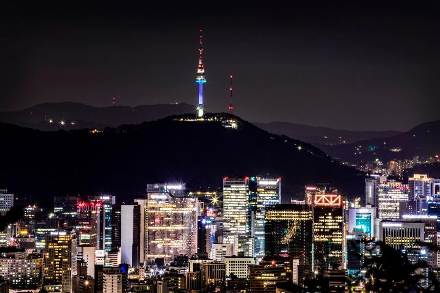 N Seoul Tower in Seoul South Korea