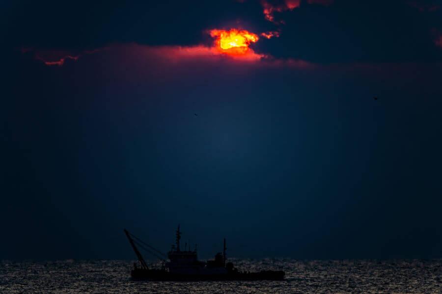 Busan Sea At Night