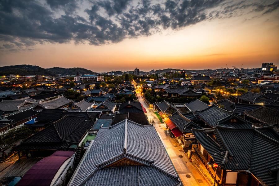 Sunset In Jeonju