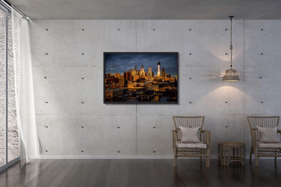 Philadelphia Skyline Wallpaper Print